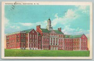Huntington West Virginia~Veterans Hospital~1940s Linen Postcard