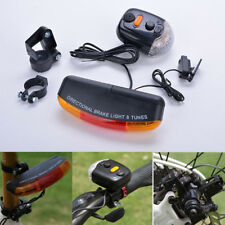 7 LED Bicycle Bike Turn Signal Directional Brake Light Lamp 8 sound Horn Hot