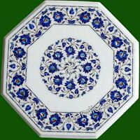 21 Inches Marble Center Table Top Lapis Lazuli Stone Royal Art Coffee Table Top