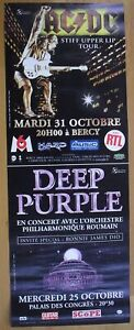 AC/DC stiff upper lip DEEP PURPLE original french concert poster