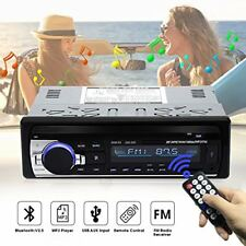 Coche Radio Estereo audio reproductor para autos 1 Din MP3 FM Bluetooth Remote