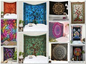 Tapestry Indian Poster Twin Bedspread Home Decorative Ethnic Throw Wall Hanging
