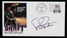 Shaft Collector Envelope Autograph Reprint and Genuine 1970s Stamp *1295