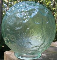 "Vintage Glass Mid Century Modern Hanging Light Fixture Globe 4"" Fitter"