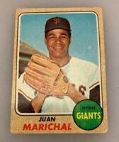1968 Topps Baseball Card Juan Marichal # 205 HOF