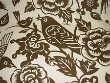 """~2 YDS~DURALEE THOMAS PAUL~""""AVIARY"""" BIRDS~UPHOLSTERY FABRIC FOR LESS~"""