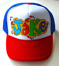 Jake Any Name Gift Trucker Hats Caps Personalized Custom Graffiti Airbrush Art