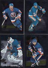 1995/96 Score Black Ice Insert NEW YORK ISLANDERS Team Set Of 17 Hockey Cards