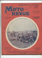 Moto Revue N°392  ; 13 septembre 1930  : croquis des machines du record du monde