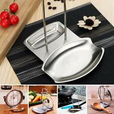 Stainless Steel Pan Pot Lid Spoon Rest Rack Kitchen Organizer Storage Stand C