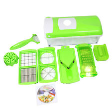 Nicer Dicer Plus Super Slicer with 12 PCS Fruit Vegetable Peeler Chopper Gr