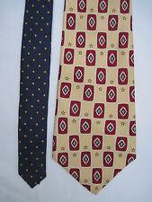 -AUTHENTIQUE cravate cravatte TOMMY HILFIGER 100% soie  TBEG  vintage