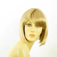 Perruque femme courte blond doré méché blond très clair  MAIA 24BT613
