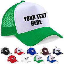 Personalised Custom Printed Half Mesh Baseball Trucker Cap Snapback Cap Hat