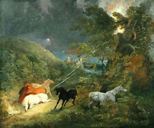 Art Oil painting Thomas cole - Horses Caught in a Lightening Storm wild view