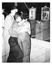 1930s vintage photo-Boys watching penny movies-Louisiana State Fair-8x10 in