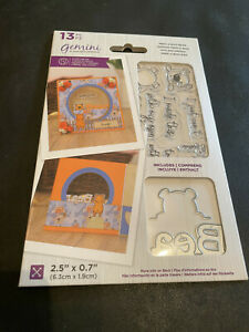 GEMINI PEEK-A-BOO BEAR STAMP AND DIE COLLECTION - NEW LOW PRICE!!!!!