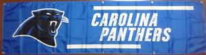 Large Carolina Panthers Banner 2'x8'  Ships Free And Quickly From N.C.