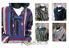 Mexican Baja Hoodie Hippie Surfer Poncho Sweater Drug Rug Pullover Jacket Unisex