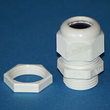 Kabelverschraubung + Gegenmutter M20x1,5 Polyamid grau