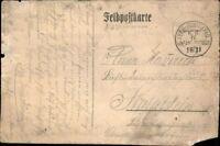 Ansichtskarte PK sw 1. WK Feldpost gelaufen 1914 IV. Infant-Division Heer
