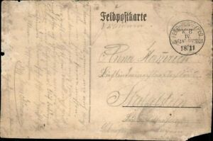 Carte Postale Pk Sw 1. Wk Courrier Militaire Pris 1914 Iv. Infant-Division Armée
