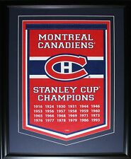 Montreal Canadiens Stanley Cup Champions Felt Banner Memorabilia Collector Frame