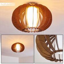 LED Deckenlampe Rund Holzoptik Dielen Leuchten Wohn Schlaf Zimmer Gäste Raum