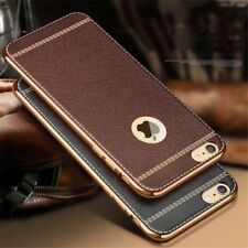 Brown Leather Look TPU Case Cover APPLE iPhone SE 5 5s