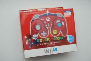 Nintendo Wii U Wii Super Mario Mario Hori Classic Controller Boxed US Seller