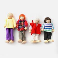 Bambole Casa Bambole Legno: famiglia di 4 (mum dad GIRL BOY): per i bambini apposta la marcatura CE