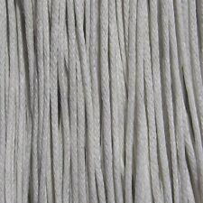 Lot de 10m de FIL EN COTON CIRÉ 1mm BLANC pour colliers sautoirs bracelets *C123