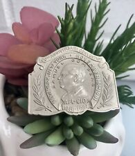 Large Vintage 100th Anniversary Samuel Gompers AFL-CIO Silver Tone Pin Brooch