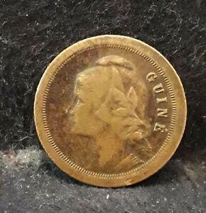 1933 Guinea (Portuguese Colony) 20 centavos, scarce, KM-3 (GP13)