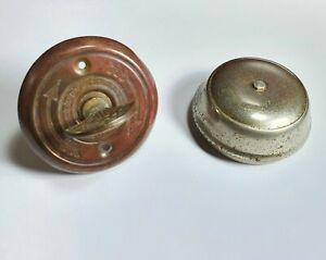 Vintage 1960s twist knob Chadwick Miller Colonial Doorbell metal bell Japan