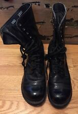 Vintage CORCORAN Military Combat Leather Jump Boots. Size 9.5 D Made In USA.