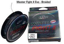 """MULTIFIBRA MASTER FIGHT II EVO BRAIDED LINE 270m 0,280mm 32,90kg """"DIP"""" PESCA -D7"""