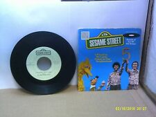 Old Children's 45 RPM Record - Sesame Street CTW 99034 - Anything People - Five