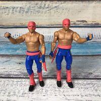WWE Mattel Basic Battle 2 Pack Series 29 Los Matadores Figure Lot Epico