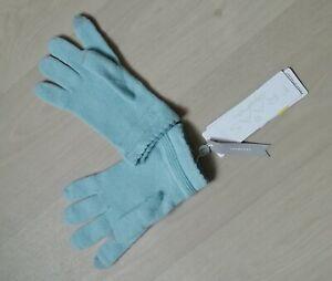 FRAAS Kaschmir Handschuhe hellblau NEU!  NP 59.90 Euro!