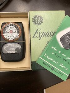 Vintage GE Exposure Meter Type DW-68 W/ Box & Manual