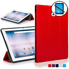 Red Smart Case Cover Shell for Acer Iconia One 10 B3-A30 Screen Prot & Stylus