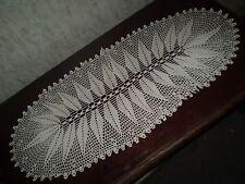 Beautiful-Vintage-Handmad e-Cotton-Crochet-Light-Ecr u-Tablecloth