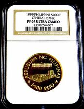 1999 PHILIPPINES 5000P 50th Anniversary Central Bank GOLD NGC PF 69 UCAM**LOOK**