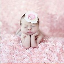 Newborn Baby Photography Props Rose Flower Backdrop Blanket Rug Photoshoot