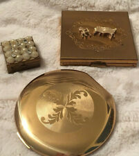 Volupte vintage mirrored compacts and pillbox lot