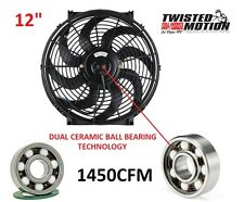 "12"" CERAMIC BALL BEARING FAN LOW PROFILE 1450CFM 350Z VQ35DE Z33"