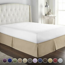 (Queen, Taupe) - Hotel Luxury Bed Skirt/Dust Ruffle 1800 Platinum