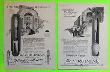 1927 Advertisements Rogers Heirloom Plate Virginian Silver Flatware Vogue