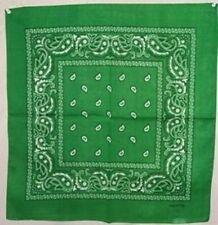 "Wholesale Lot 6 22""x22"" Paisley Green Bandana"